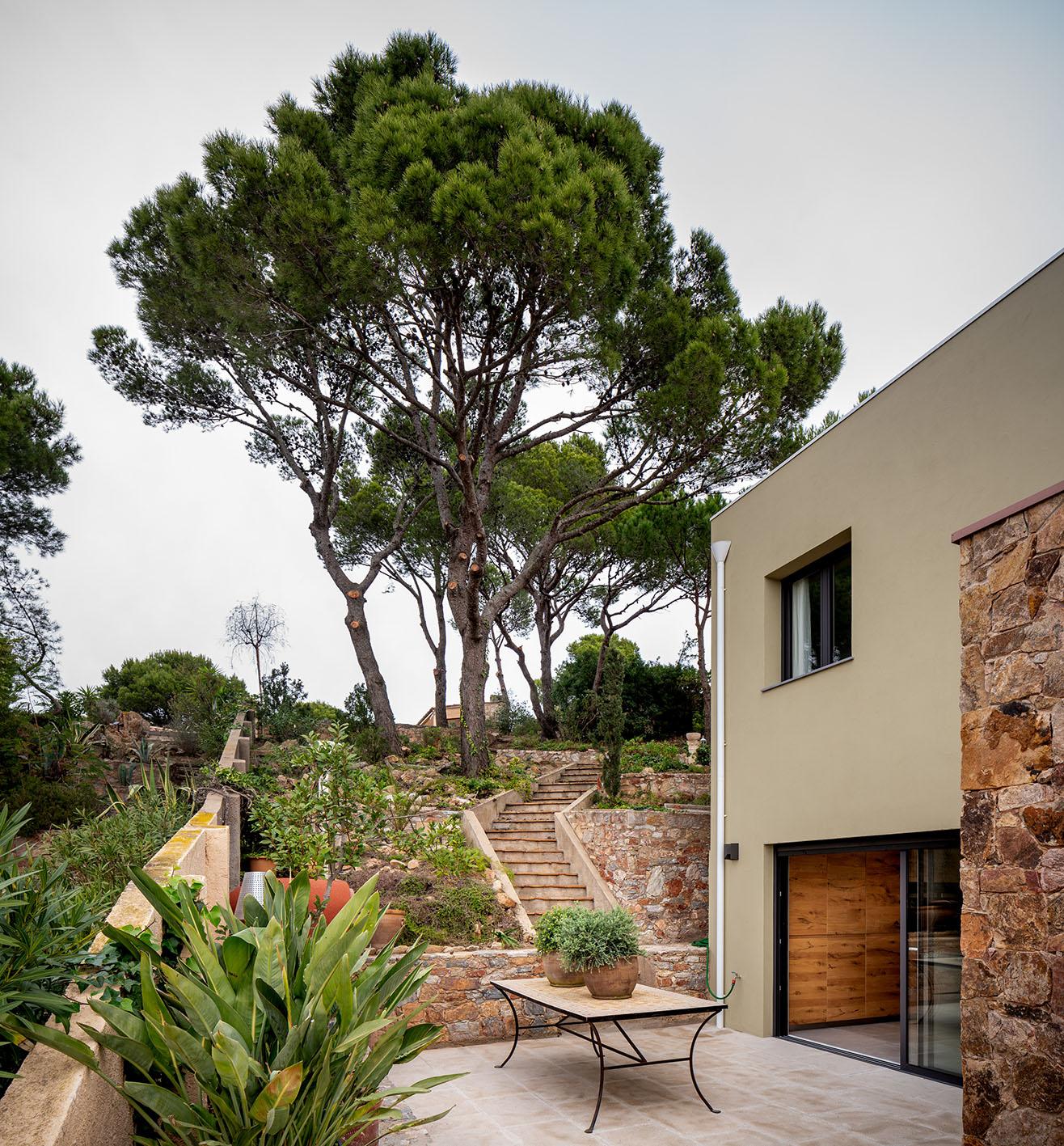 Fotografía de arquitectura - Imagen de patio exterior en casa unifamiliar