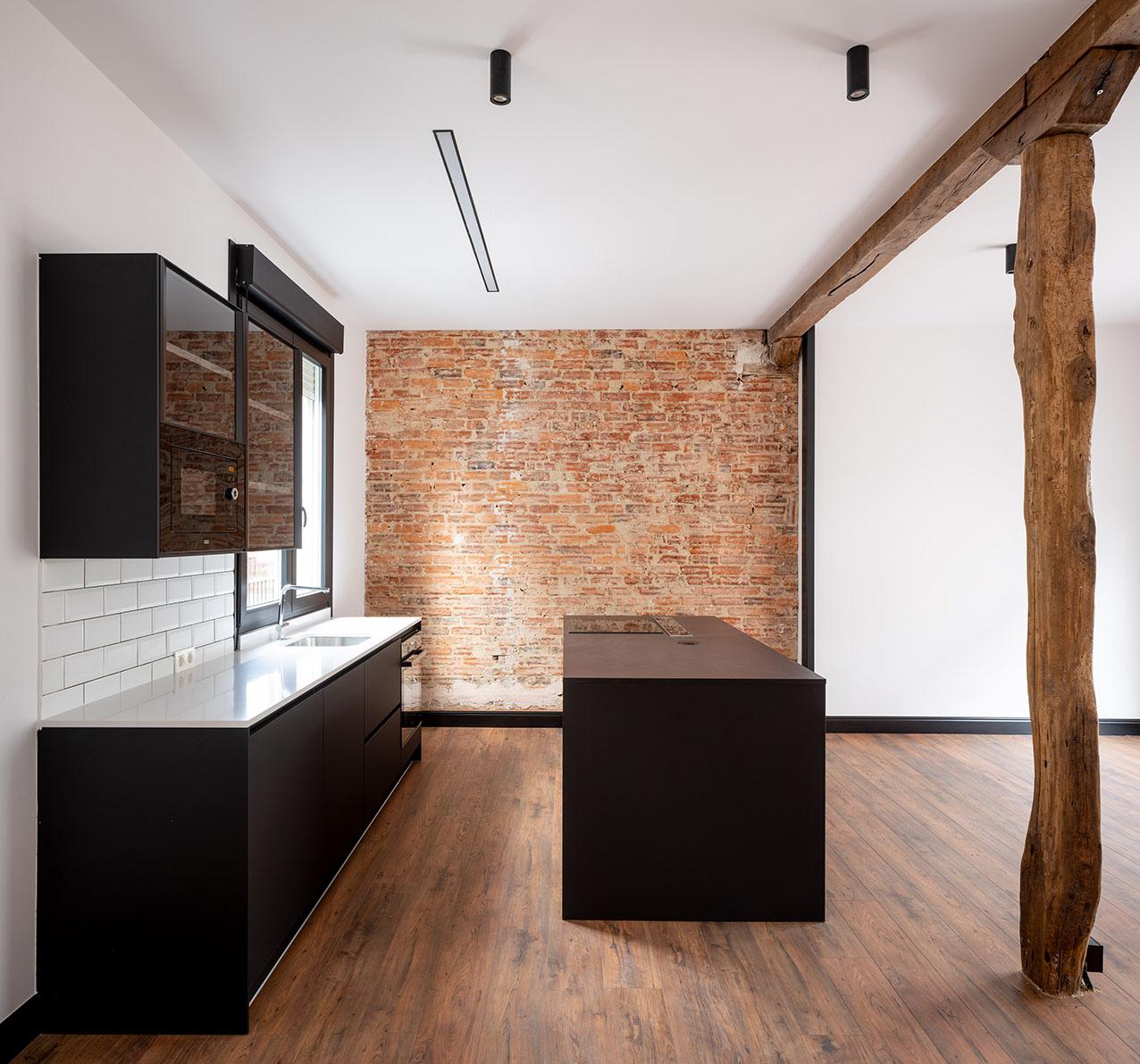 Imagen de la cocina, Fotografía de arquitectura - Reportaje fotográfico de vivienda en Getxo